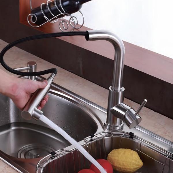 Rvs Keukenkraan : Prachtige RVS keukenkraan, uittrekbaar ! Deze keukenkraan heeft een